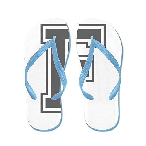 CafePress F-Var Gray - Flip Flops, Funny Thong Sandals, Beach Sandals Caribbean Blue