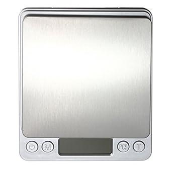 HITSAN DANIU 2 kg/0,1 g joyería de acero inoxidable báscula digital oro plata monedas Gram bolsillo una pieza: Amazon.es: Amazon.es