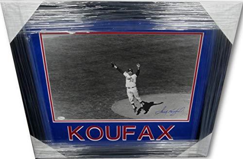 (Sandy Koufax Signed Autographed 16X20 Photo Dodgers Game Winner 1963 JSA Framed)