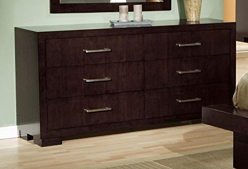 Coaster Jessica Collection Cappuccino Finish Bedroom Storage Dresser (Coaster Bedroom Collection Jessica)