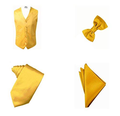 Oliver George 4pc Solid Vest Set-Gold-L