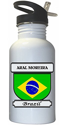 aral-moreira-brazil-city-white-stainless-steel-water-bottle-straw-top