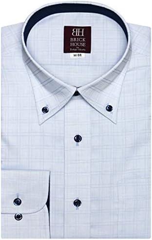 ブリックハウス ワイシャツ 長袖 形態安定 ボタンダウン 袖の長い・大きいサイズ スリム メンズ BM010100AA13B1A-10