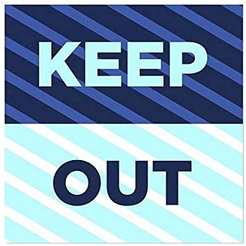 12x12 5-Pack Stripes Blue Window Cling CGSignLab Keep Out