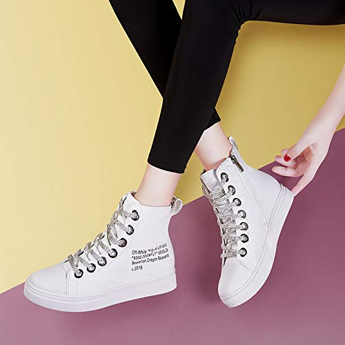 Bottom Inside Board Shoes white Shoes Joker 39 Casual Heighten Thick Frenulum Shoes SFSYDDY High Ladies Women'S Oxv4wYz