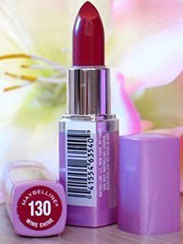 Lipstick Shine Wet Color Lip (Maybelline Wet Shine Lip Color 130 Wine Shine)