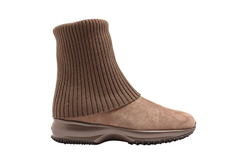 Hogan ANKLE BOOTS IN BEIGE SUEDE, Womens.