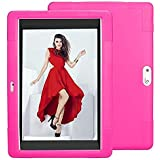 DETUOSI Wecool 10.1 inch Android Tablet Case, Soft Silica Shell Cover fit for YELLYOUTH 10.1,Plum Optimax 10,Lectrus 10…