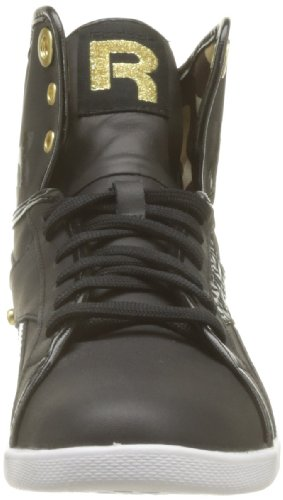 Reebok Top Down Snaps, Baskets mode femme Noir (Black/True Gold/White)