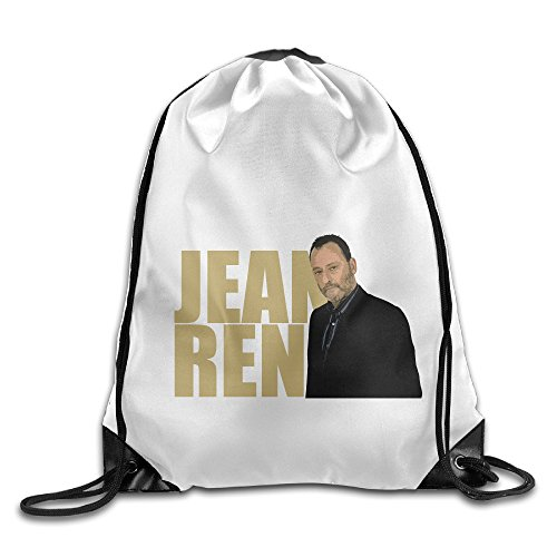 Bekey Jean Reno Poster Drawstring Backpack Sport Bag For Men & Women For Home Travel Storage Use Gym Traveling Shopping Sport Yoga Running