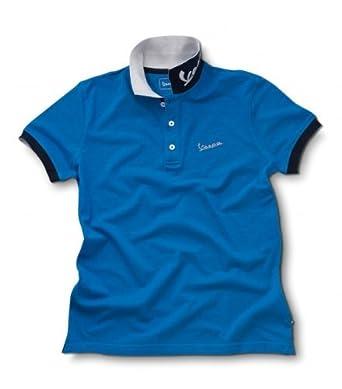 Vespa - Polo para hombre de manga corta azul claro: Amazon.es ...