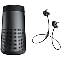 Bose SoundLink Revolve Speaker & SoundSport Wireless In-ear Headphones - Bluetooth Bundle - Black