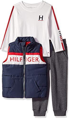 - Tommy Hilfiger Boys' Toddler 3 Pieces Vest Set, Blue/red, 3T