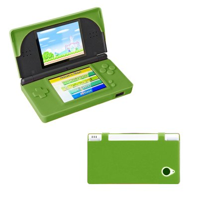 Premium Neon Green Silicone Gel Skin Cover Case for Nintendo DSi XL / LL [Accessory Export Brand Packaging]