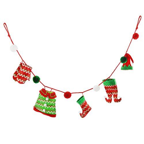 Athoinsu Christmas Stocking Elf Leg Hat Skirt