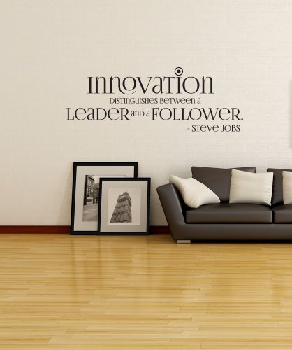 Stickerbrand Vinyl Wall Decal Sticker Steve Jobs Innovation Quote OS_DC510s
