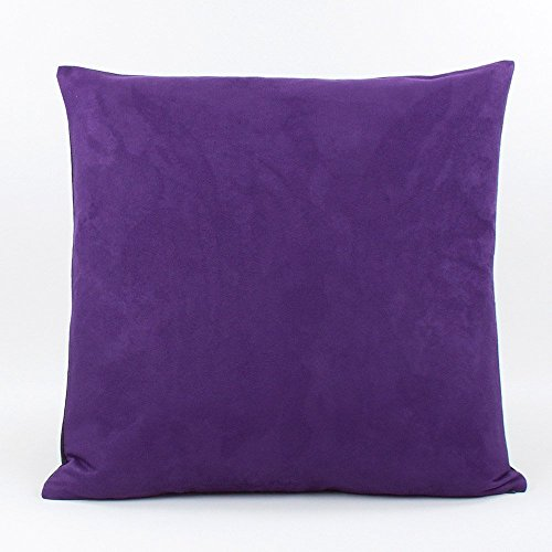 Urban Suede and Denim Decorative Handmade Pillow Cover, 20x20, Purple, Chloe & ()