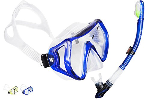 wacool-snorkeling-package-set-for-adults-anti-fog-coated-glass-diving-mask-snorkel-with-silicon-mout