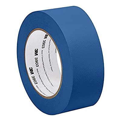 3M 3903 Vinyl Duct Tape - 2 in. x 150 ft. Blue Rubber Adhesive Tape Roll with Abrasion, Chemical Resistance. Sealing Tapes from 3M