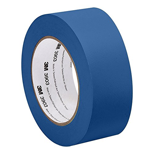 (3M 3903 Vinyl Duct Tape - 2 in. x 150 ft. Blue Rubber Adhesive Tape Roll with Abrasion, Chemical Resistance. Sealing Tapes)