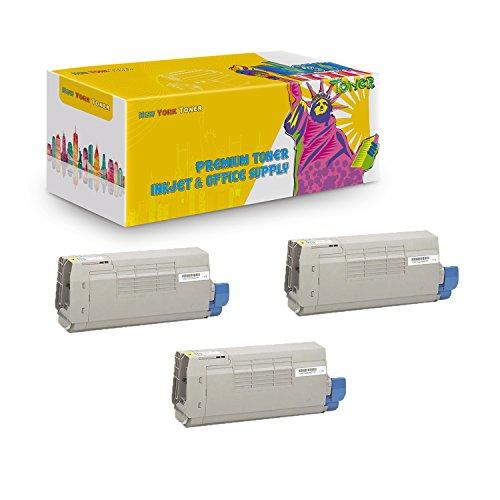 New York TonerTM New Compatible 3 Pack 44318601 High Yield Toner for Oki-Okidata : C711 | C711N | C711DN | C711DTN. -