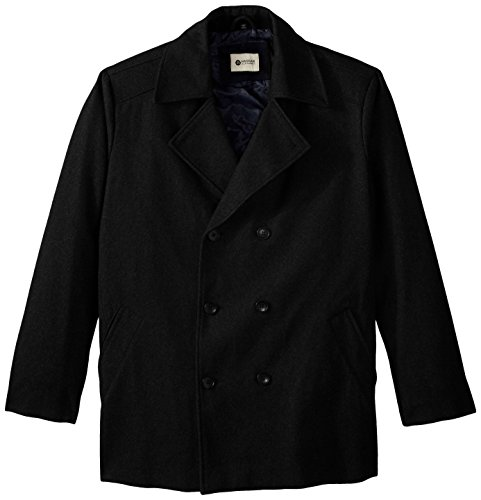 Haggar Big Tall Bedford Double Breasted Peacoat
