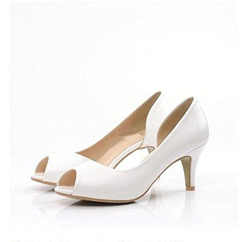 pied à sweet de White HXVU56546 sandales étudiants chaussures hauts à l'aise nouvelle talons femmes l'été mettre Uanwq4Y0