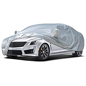 Audew Car Cover Sedan Cover Waterproof/Windproof/Dustproof/Scratch Resistant Outdoor UV Protection Full Car Covers For Sedan L (177''-191'')