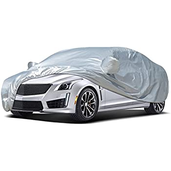 Copap Car Covers 3 Layers Full Cover Non-Woven Fabric Universal Car Cover Waterproof All Weather UV/&Dust Proof Designed for All Protection Cars up to 160