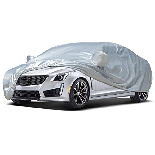 Audew Car Cover Sedan Cover 2019 Upgrade UV Protection/Waterproof/Windproof/Dustproof/Scratch Resistant Outdoor Full Car Covers for Sedan L (177''-191'') ()