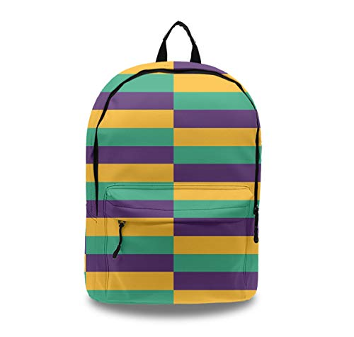 Mardi Gras Jester Business Laptop Backpack with Earphone Port Durable Anti Theft Travel Backpack with Laptop Compartment for Men Women, College School Bookbag Students Bag for Girls Boys]()