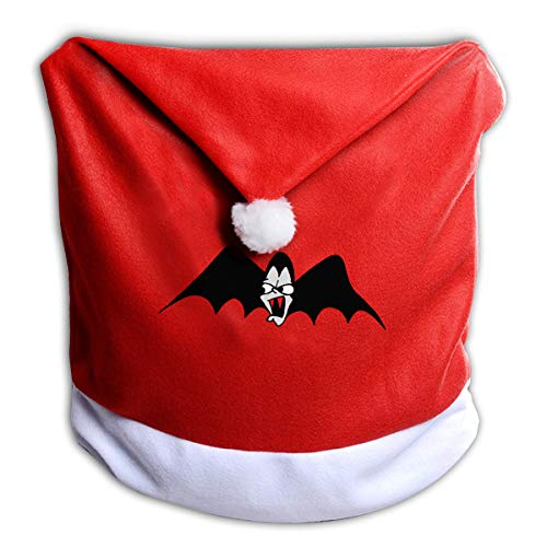FUNMAX Halloween Scary Bat Wing Non-Woven Xmas Christmas Themed Dinner Chair Cap Hat Covers Set Ornaments Backers Protector for Seat Slipcovers Wraps Coverings Decorations]()