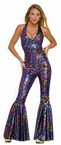 [Forum Novelties Women's Funky Dancing Fox 70's Disco Costume, Multicolor, X-Small/Small] (70s Couple Costumes)