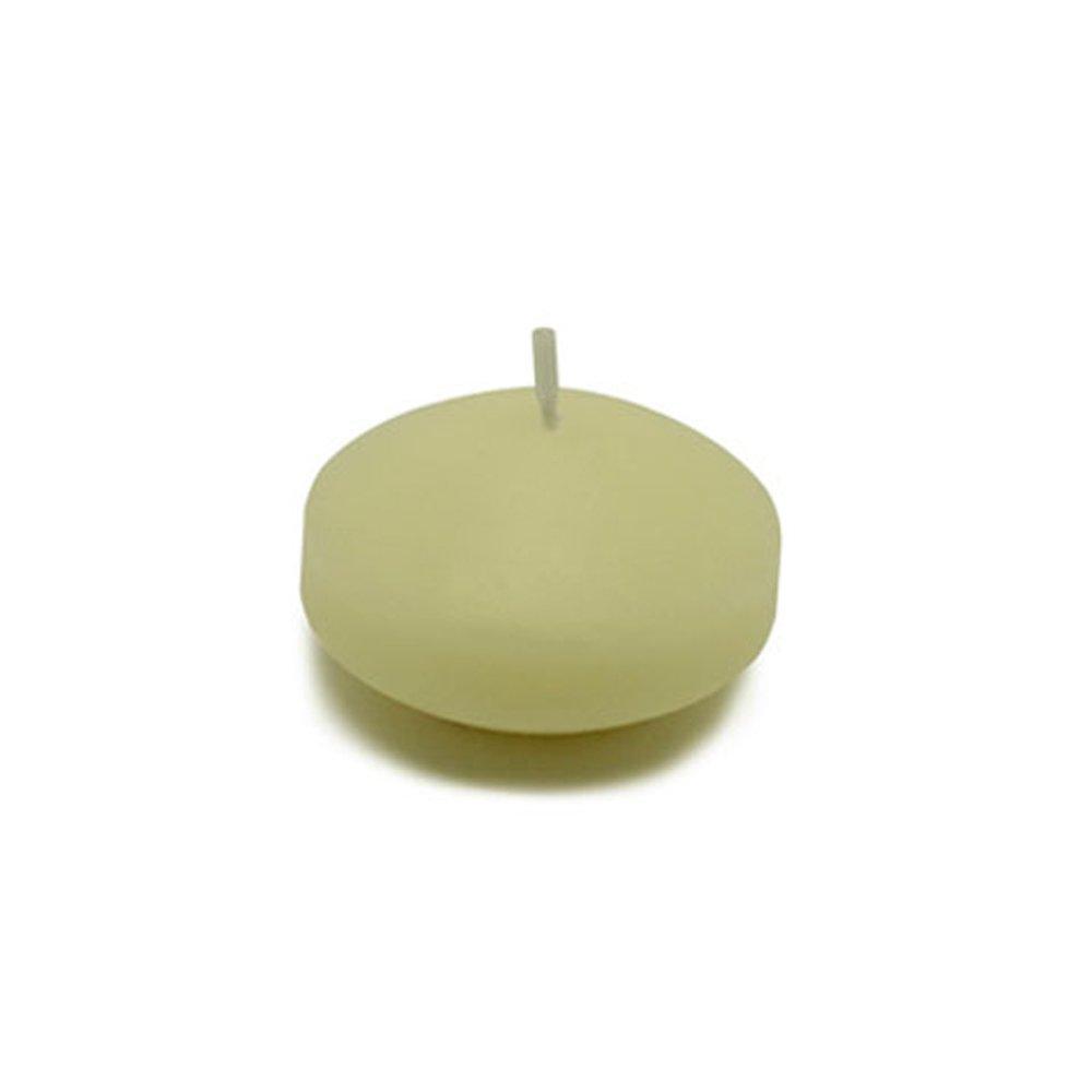 Zest Candle CFZ-002_12 288-Piece Floating Candle, 1.75'', Ivory
