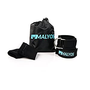 Ankle Straps for Cable Machines and Sweat Wristbands plus Carry Bag Premium Ankle Cuffs Attachment for Leg, Abs & Glute Exercise Fitness Equipment for Women & Men