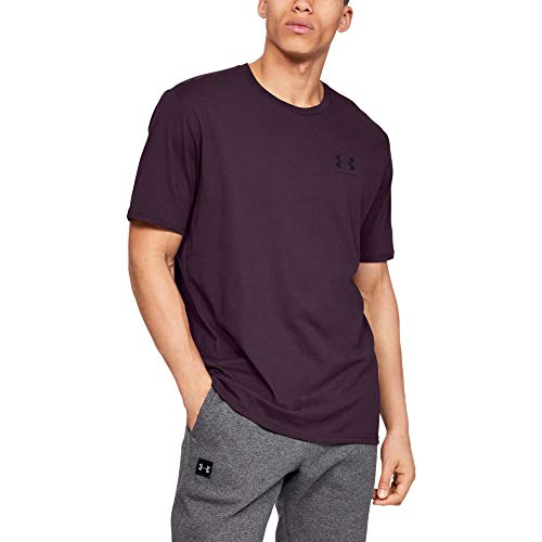 Under Armour mens Sportstyle Left Chest Short Sleeve T-Shirt, Kinetic Purple (520)/Black, X-Large