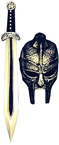 Gladiator Mask and Sword Men Costume Set (Halloween Gladiator Accessories)