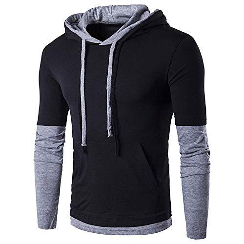 Mens Hoodie Sweatshirt,Mens Casual School Autumn Winter Long