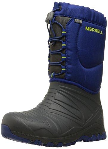 - Merrell Snow Quest Lite Waterproof Snow Boot (Little Kid/Big Kid), Grey/Cobalt, 11 M US Little Kid