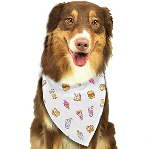 Hlinksy Cute Cartoon Fast Food Triangle Bandana Scarves
