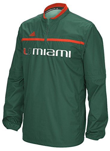 - adidas Miami Hurricanes 2015 Sideline 1/4 Zip Climalite Convertible Jacket