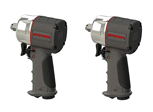 AIRCAT 1076-XL Kevlar Composite Compact Impact Wrench, 3 8 , Silver Grey 2 Pack
