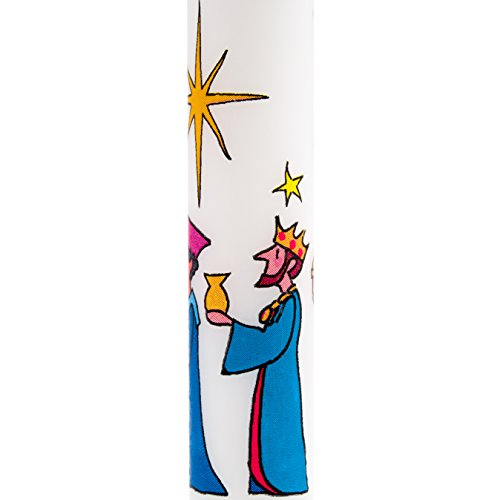 Designed in England Alison Gardiner Famous Illustrator Unique Festive Candles Three Wise Men