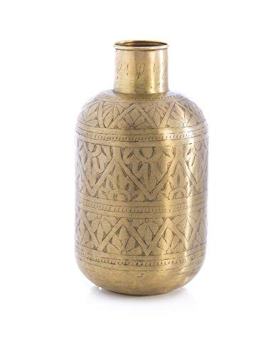 Shiraleah Home Aziz Large Brass Vase by Shiraleah Home