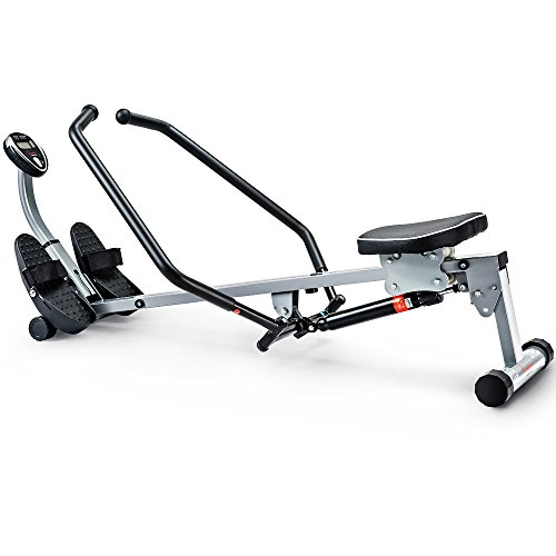 Sunny Health & Fitness SF-RW1410 Rowing Machine Rower with Full Motion Arms and LCD Monitor – DiZiSports Store
