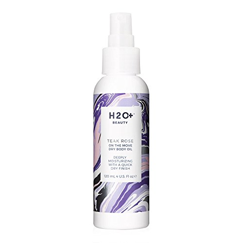 - H2O+ Beauty Teak Rose On the Move Dry Body Oil, Deeply Moisterizing with a Quick Dry Finish, 4 Ounce
