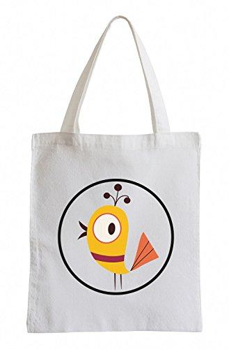 Raxxpurl Yellow Bird in cerchio Fun sacchetto di iuta