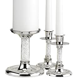 Hortense B. Hewitt Wedding Accessories Glittering Beads Candle Stands, Set of 3
