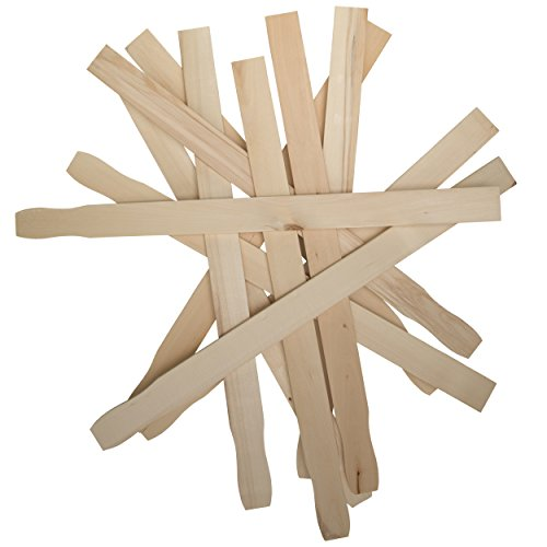 12 Inch Paint Sticks, Box of 50 Sanded Hardwood Paint Stirrers for Wax, Mix Epoxy, Resin or Kids Wood Crafts, Garden and Library Markers by Woodpeckers ()