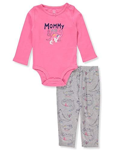 (Carter's 2-Piece Bodysuit & Pant Set Mommy & Me Dinosaur Newborn NB )